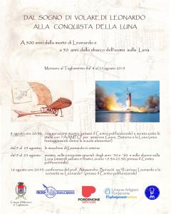 DAL SOGNO DI VOLARE DI LEONARDO ALLA CONQUISTA DELLA LUNA...A 500 anni dalla morte di Leonardo e a 50 anni dello sbarco dell'uomo sulla Luna.